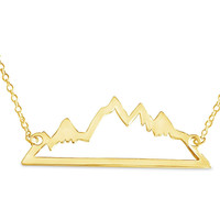 Gold Mountain Range Necklace