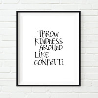 Typographic Print Poster Postive Quote Inspirational Art Home Decor Instant download Word art Wall decor Wall hanging Screenprint Printable
