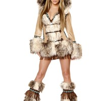 Eskimo Hooded Coat Exotic Costume