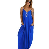 Royal Sorority Girl Maxi Dress