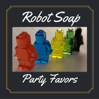 Robot Soap Party Favor - Kids Scented Soaps are great for Birthday Party Favor for boys or girls, Your choice of color & scent - Pack of 25