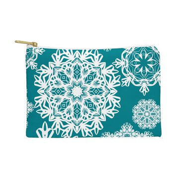 Lisa Argyropoulos Flurries on Teal Pouch