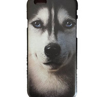 iPhone 6 / 6S 3D Painting Siberian Husky Dog Face Portrait 4.7 Inch Printed Hard Case Cover For Apple IPhone