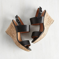 Strut's New With You? Wedge in Black