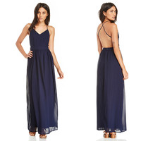 Deep V Chiffon Bohemian Maxi Dress with Adjustable Straps