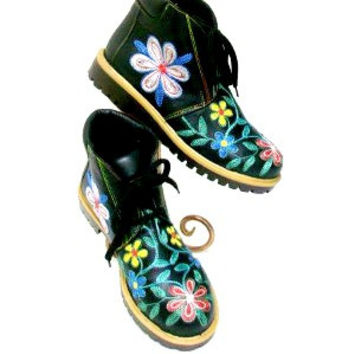 Suzani Embroidered Short Boot Dr. Marten Style