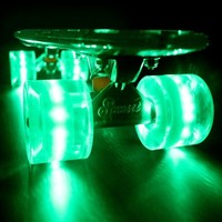 Glow'n Zombie Green Deck with Biohazard Flare LED Wheels