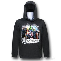 Avengers Movie Gray Youth Hoodie
