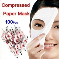 100 pcs Skin Face Care DIY Facial Paper Compress Masque Mask:Amazon:Everything Else
