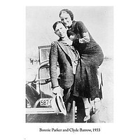 NOTORIOUS GANGSTERS bonnie parker & clyde barrow 1933 PHOTO poster 24X36