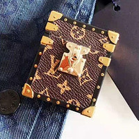 LV Louis Vuitton Newest Stylish iPhone Airpods Headphone Case Wireless Bluetooth Headphone Protector Case (No Headphones)