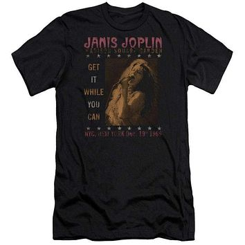 Adult Janis Joplin One Night Only Premium Canvas T-Shirt