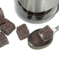 Black Sugar Cubes- Flavored Sugar for Back and White Wedding, Tea Parties, Champagne Toast, Tea, Coffee, Favors, Showers