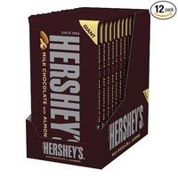 HERSHEY'S Giant Milk Chocolate Bar with Almonds (6.8-Ounce Bar, Pack of 12)