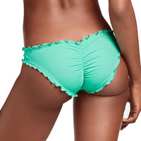 Ladies Female Swimwear Thong Bottom Brazilian Swimsuit Biquini Ruffled Briefs Plus Large Size Cheeky Bikini Bottom For Women