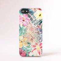 Summer iPhone Case Summer Trend Tropical Floral Print iPhone 4 Case Floral Cases Floral iPhone 5 Case Pinapple iPhone Hawaii Botanical Print