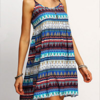 Casual Strappy Print Sundress