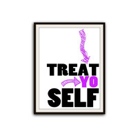 Parks and Recreation Treat Yo Self Typography Poster
