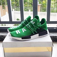 Pharrell Williams x Adidas Consortium NMD Human Race Green Sport Running Shoes Classic Casual Shoes Sneakers