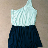 Houseboat Romper in Sea [5622] - $36.00 : Feminine, Bohemian, & Vintage Inspired Clothing at Affordable Prices, deloom