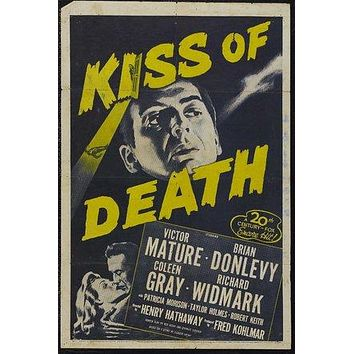 Kiss of Death Poster//Kiss of Death Movie Poster//Movie Poster//Poster Reprint