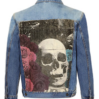 Art Disco Denim Jacket* - Men's Coats & Jackets - Clothing - TOPMAN