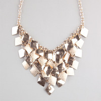 Full Tilt Tier Diamond Dust Statement Necklace Gold One Size For Women 23463162101