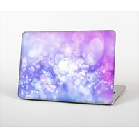 The Blue and Purple Translucent Glimmer Lights Skin Set for the Apple MacBook Pro 15""