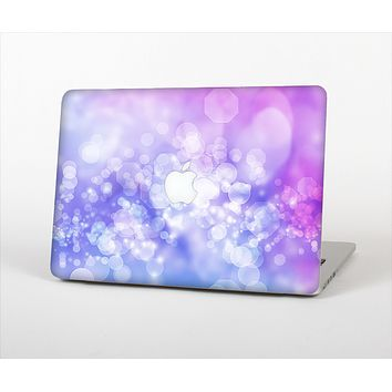 """The Blue and Purple Translucent Glimmer Lights Skin Set for the Apple MacBook Pro 15"""""""