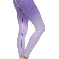 ICONOFLASH Women's Athletic Space Dye Ombre Leggings