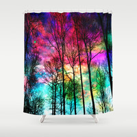 Colorful sky Shower Curtain by Haroulita
