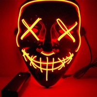 2018 New Year Cosplay LED Light Mask Up from The Purge Election Year Great for Festival Cosplay Halloween Costume