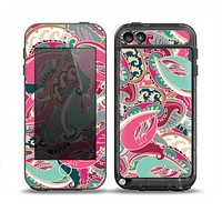 The Colorful Pink & Teal Seamless Paisley Skin for the iPod Touch 5th Generation frē LifeProof Case
