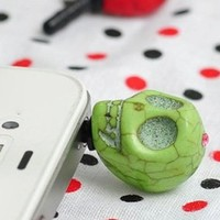 Skull Earphone Jack / Dust Plug for iPhone iPad