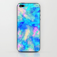 Electrify Ice Blue iPhone & iPod Skin by Amy Sia | Society6