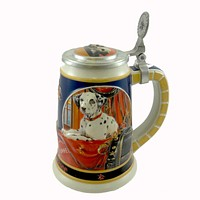 Anheuser-Busch SEPARATED AT BIRTH STEIN Ceramic Budweiser Dalmatian Dog CS421