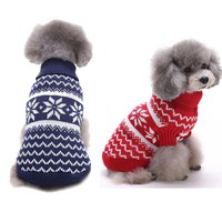 Pet clothes christmas sweater for dogs
