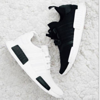 ADIDAS  NMD Trending Fashion Casual Sports Shoes white -black logo soles