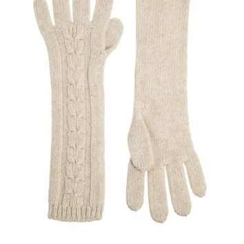 Johnstons Asymmetric Aran Cable Gloves
