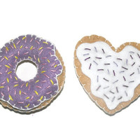 Cat Toys - Catnip Kitty Cookie and Donut - Set Of 2