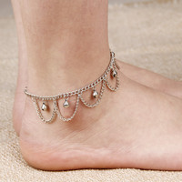 Bell Alloy Link Chain Anklets Silver Plated Anklet Foot Jewelry Anklet Bracelets