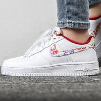 NIKE Air Force 1 New Fashion Hook Sports Leisure Shoes White
