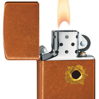 Zippo Bullet Hole Toffee Lighter