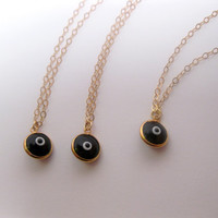 Ward Off EEEvil With The Black Evil Eye Necklace - 14k Gold Filled Chain
