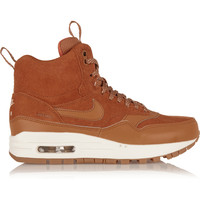 Nike - Air Max 1 suede and leather high-top sneakers