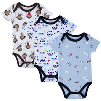 2016 Fashion Summer Short Sleeve Baby Bodysuits Casual Overalls Children Jumpsuit Newborn Clothing for Babies Boys Baby Body