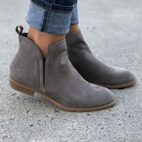Gray Tori Tab Booties