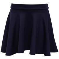 Ellie Scuba Skater Skirt in Navy Blue