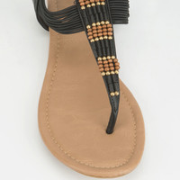 CITY CLASSIFIED Womens Beaded T-Strap Sandals | Sandals