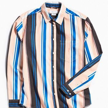 UO Stripe Button-Down Shirt   Urban Outfitters